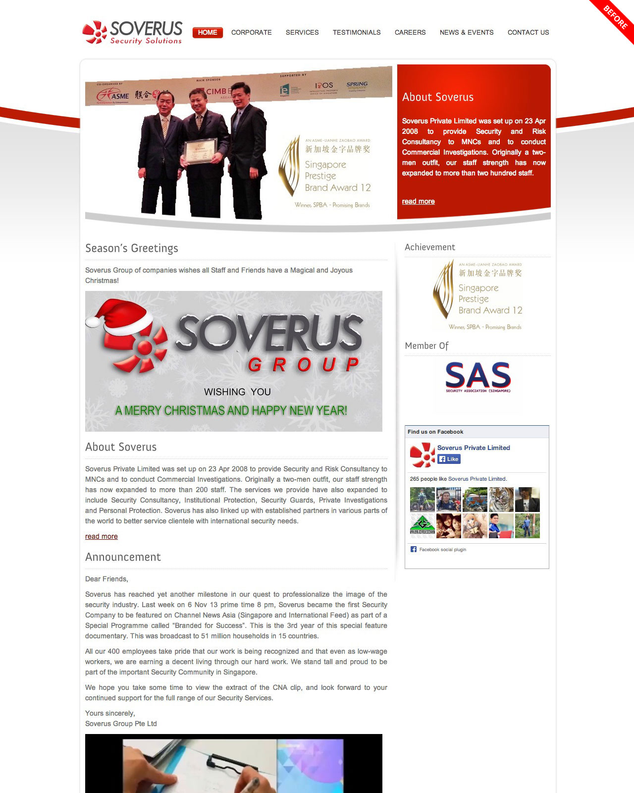 Soverus Private Limited old website